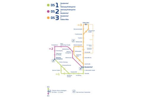 Liniennetzplan Donaueschingen