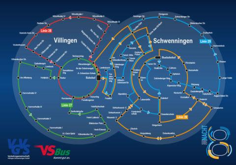 Liniennetzplan Nachtbus VS