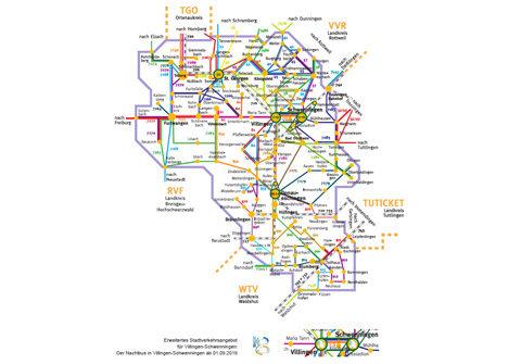Liniennetzplan VSB