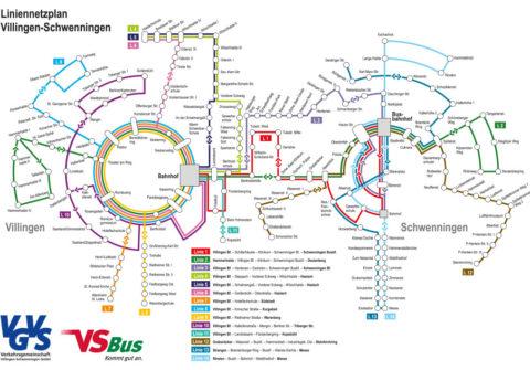 Liniennetzplan Villingen-Schwenningen